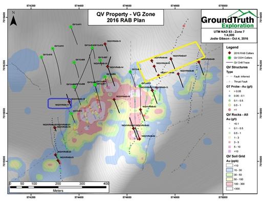 Comstock Metals Ltd.: QV Property - VG Zone