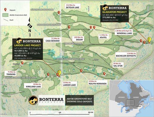 Bonterra Resources Inc. - Greenstone Map