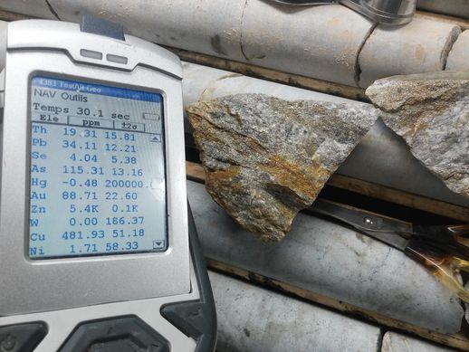 Bonterra Resources Inc. - Testmessung chemischer Elemente