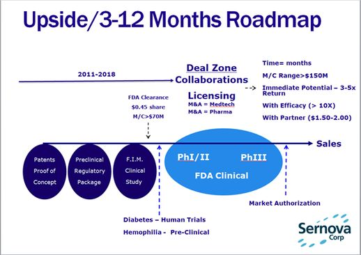 Sernova Corp.: Upside 3-12 Months Roadmap